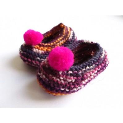 Chaussons bébé en laine