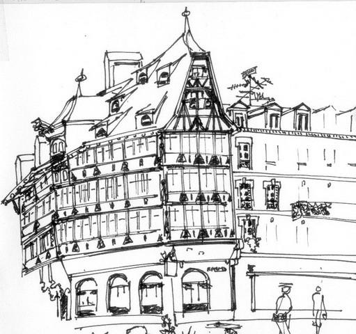 Dessin DObservation  Maison Kammerzell  Strasbourg