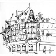 dessin d'observation - Maison kammerzell - Strasbourg