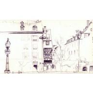 Croquis quai Saint Nicolas à Strasbourg