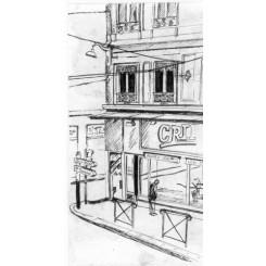 Croquis rue - Lyon
